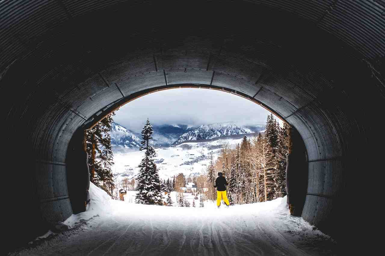 colorado, tunnel, ski